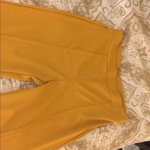 Mustard Victorian High waisted Dress pants